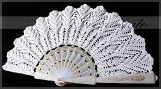 White lace hand fans crochet 100 cotton wedding by Irenastyle, $110.00