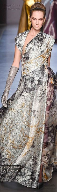 Flowing Wraps. I love the amazing cut of this dress. It creates the sense of motion.