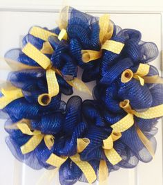 WVU Wreath by 5thRowSouth on Etsy