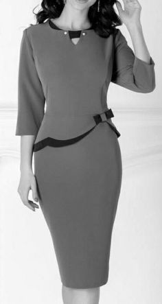 Elegant Dresses, Cute Dresses, Vintage Dresses, Mode Outfits, Dress Outfits, Fashion Outfits, Work Dresses For Women, Clothes For Women, Fashion For Petite Women
