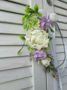 Wedding floral headband White peony Violet Lilac flower Rustic