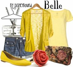 all signs point to yellow shoes for Belle Disneybounding...