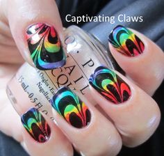 Captivating Claws: Weekly Water Marble 3/29/12