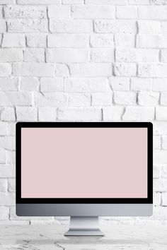 Desktop computer with screen mockup on a white marble table illustration Girly Wallpaper, Textured Wallpaper, Hanging Picture Frames, Wooden Picture Frames, Instagram Frame Template, Vie Motivation, Episode Backgrounds, Overlays Picsart, Web Design