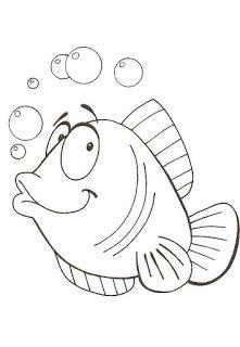 BAUZINHO DA WEB - BAÚ DA WEB : Desenhos e riscos de peixe para colorir, pintar ou imprimir - peixes colorir