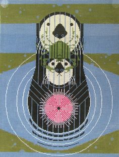 Charley Harper Needlepoint<BR>Devotion Ocean (Out of Stock)