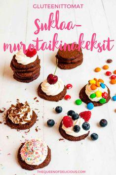 Helpot, gluteenittomat suklaamurotaikinakeksit