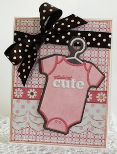 Adorable Baby Card. Could be done in blue or pink