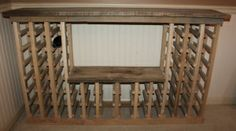 The completed wine rack - constructed from 100% reclaimed barn and pallet wood.