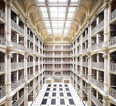 Baltimore, United States - Johns Hopkins University George Peabody Library