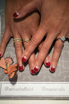 Chic nail art for the non-traditional bride!