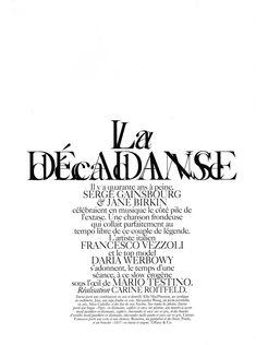 mario testino1 Daria Werbowy by Mario Testino in La Decadanse | Vogue Paris May 2010