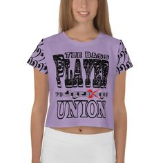All-Over Print Crop Tee - The Bass Player Union
