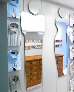 Frameless full length body shaped wall mirror, featuring a stylised man's body. A quirky contemporary statement mirror for hallways, bedrooms & bathr Window Pane Mirror, Hallway Mirror, Round Mirrors, Large Mirrors, Industrial Mirrors, Copper Mirror, Body Shapes, Decorative Mirrors, Contemporary Mirrors