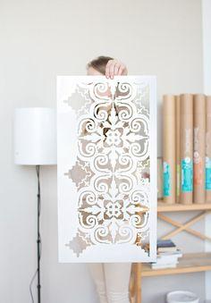 New! Porto Tile stencil, Floor tile stencil, Moroccan Table Stencil, Moorish tile stencil for DIY project - Easy home decor