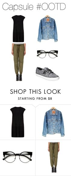 """OOTD - Casual"" by capsulemethod on Polyvore featuring MuuBaa, Levi's, Vis-à-Vis and Sperry"
