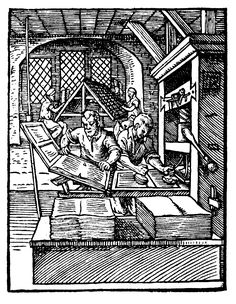 Printer in 1568-ce - Stampa a caratteri mobili - Wikipedia