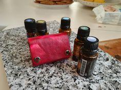 Leather essential oils case