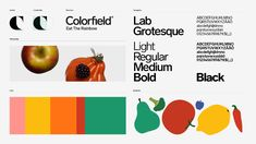 Colorfield – Stockholm Design Lab Design Lab, Web Design, Brand Guidelines Design, Colour Field, Bright Kitchens, Colorful Fruit, Eat The Rainbow, Chemical Reactions, Retail Interior