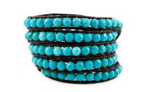 Chan Luu Faceted Turquoise Wrap Bracelet