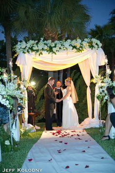 Wedding ceremony at Broken Sound Country Club.