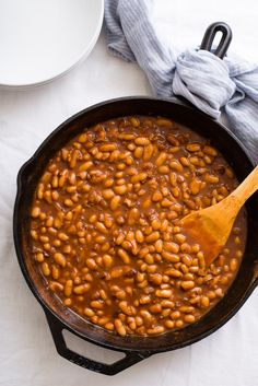 Recipe: Fast and Fancy Pork and Beans — Quick and Easy Weeknight Dinners Pork And Beans Recipe, Pork N Beans, Van Camp Baked Beans Recipe, Cooking On The Grill, Cooking Time, Cooking Recipes, Oven Cooking, Cooking Classes, Kitchen Recipes