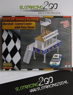 Marshall Control Center with Press tower - SlotRacing2Go