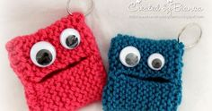 Handmade by Bianca: key monster - I& now learning to knit! : Handmade by Bianca: key monster – I& now learning to knit! Loom Knitting Projects, Easy Knitting Patterns, Knitting For Kids, Knitting For Beginners, Baby Knitting, Crochet Patterns, Crochet Crafts, Knit Crochet, Handicraft