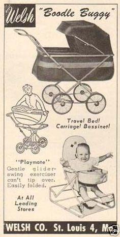 Vintage Welsh Baby Carriage / Stroller / Pram ad, 1950's.
