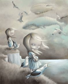 "#AnneAngelshaug  ""Mother""  Glasstide.  http://www.angelshaug.com/   #illustration #art"