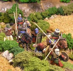 """Jinetes"" from Conquest Games and apearmen from Artizan Design. 28mm Miniatures, Fantasy Miniatures, Warrior Priest, Worst Idea Ever, Skins Characters, Play More Games, Threes Game, The Flash, Figure Painting"