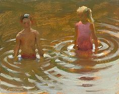 """John Singer Sergeant. Have always love JSS's ability to paint water and emotions with a few """"simple"""" strokes.  So Lovely."""