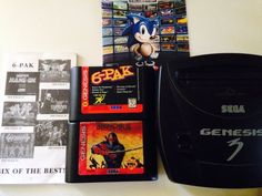Sega Genesis 3 Series With 8 Games And Two 3-6 Button Pads