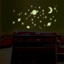 Color 4 Bedroom Nursery Ceiling Fun Glow Night Dark Wall Stickers
