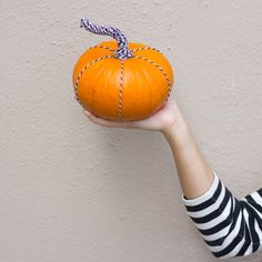 Make the often overlooked stem the star of this modern pumpkin DIY by wrapping it in baker's twine. So simple you can make this in minutes!