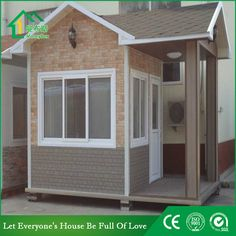 Guard house WhatsApp: +8618620106756 Steel Structure Buildings, Guard House, Portable Toilet, Money Box, Prefab Homes, Container, Construction, Outdoor Structures, Design