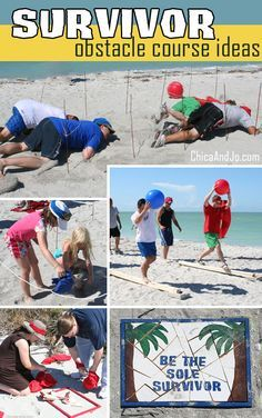 Be inspired by this set of Survivor challenge ideas that are good for all ages. Most of the beach challenges can be adapted to work in your own back yard. Survivor Party Games, Survivor Theme, Survivor Crafts, Amazing Race Challenges, Amazing Race Games, Group Games For Kids, Youth Games, Family Games, Group Challenges For Kids