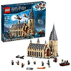 You are buying aLego 75954 Harry Potter Hogwarts Great Hall Building Kit - 878 Pieces. The LEGO Harry Potter Hogwarts Great Hall is here. A great addition to the LEGO Harry Potter Hogwarts collection for any boy or girl! Lego Harry Potter, Fanart Harry Potter, Harry Potter Château, Party Harry Potter, Lego Hogwarts, Hogwarts Great Hall, Hogwarts Alumni, Lego Disney, Lord Voldemort