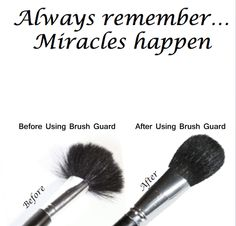 Yes miracles do happen! Get your Brush Guard variety pack to help reshape and protect your makeup brushes.  http://www.secretfashionfixes.ie/p/the-brush-guard-variety-pack/brushguard