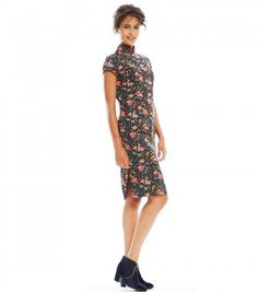 """ROBE SOIE IN THE MOOD """"PERSE"""" NOIR  - Dolce Vita - Lookbook - Ready to wear  • Souleiado - Fashion woman and Provençal lifestyle"""