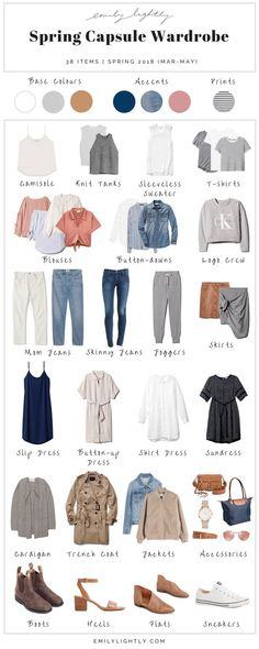 My Spring 2018 Capsule Wardrobe - Emily Lightly // slow fashion, sustainable fashion, spring… - moda Slow Fashion, Trendy Fashion, Spring Fashion, Fashion Outfits, Womens Fashion, Fashion Trends, Fashion Clothes, Travel Fashion, Fashion Heels