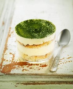 I adore this fun, Asian inspired twist on a great Italian classic: Matcha Tea Tiramisu.