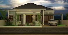 Desain Rumah Type 150 Mewah 1 Lantai House Layout Plans, House Layouts, House Plans, Simple House Design, Dream Home Design, One Storey House, Model House Plan, Modern Minimalist House, Bungalow House Design
