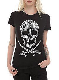 HOTTOPIC.COM - The Goonies Quote Skull Girls T-Shirt