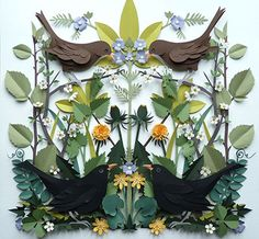 Amazing paper cut-out illustration by Helen Musselwhite #paper #illustration