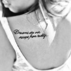 Shoulder tattoo.