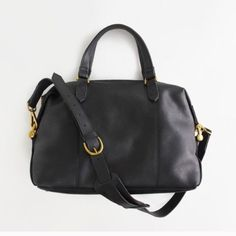 Madewell Glasgow Kensington Leather Bag In Black