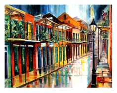 French Quarter Rain--Diane Millsap   This will soon be adorning my living room wall.