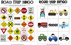 As you are driving, your kids can keep their eyes peeled for different signs and cars on this printable bingo board.