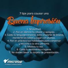 #TipsMicrosip 7 tips para causar una buena impresión.
